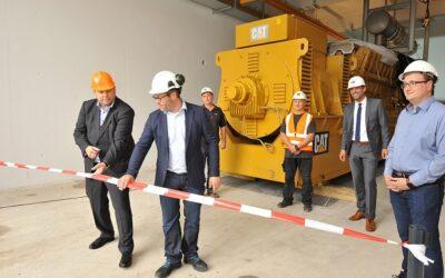 Bau des Gasmotoren-Kraftwerks der Energieversorgung Oberhausen kommt voran