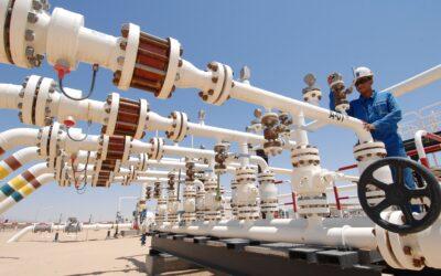 Faszination Energie: Gas-Aufbereitungsanlage bei Jakhira in Libyen.