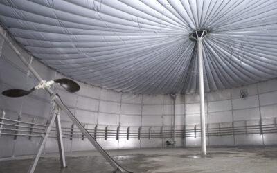 Faszination Energie: Innenansicht eines Biogas-Fermenters