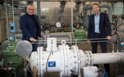 Erste Turbine im Erdgasnetz in Betrieb