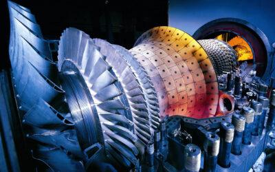 Faszination Energie: Läufer und Brennkammer einer SGT5-4000F-Gasturbine
