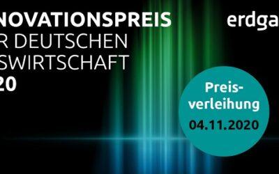 Innovationspreis der deutschen Gaswirtschaft 2020: Jury gibt Nominierte bekannt