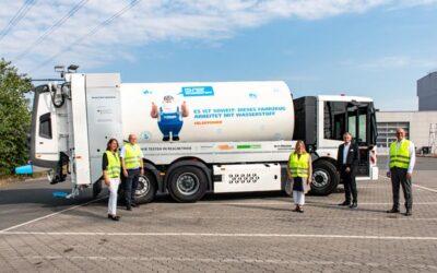 Erstes wasserstoffbetriebenes Entsorgungsfahrzeug in Bremen im Einsatz