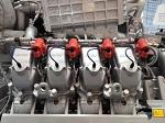 MTU- Erdgasmotor mit acht Zylindern zur Energie-Erzeugung