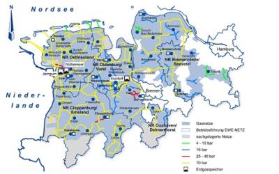 Fachbericht: Netzberechnung in der Praxis – Teil 1: Umstellung von L- auf H-Gas in einem Verteilnetz mit 600.000 Netzanschlüssen
