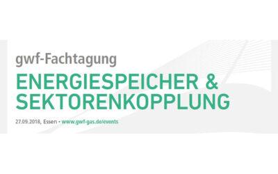 """gwf-Fachtagung """"Energiespeicher & Sektorenkopplung"""" in Essen"""