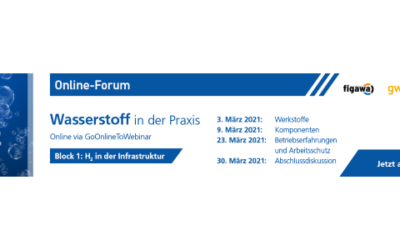 """Online-Forum """"Wasserstoff in der Praxis"""" – Webinar-Reihe umfasst verschiedene Themenblöcke"""