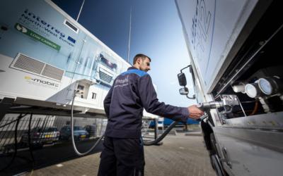Wystrach präsentiert mobile Wasserstofftankstelle