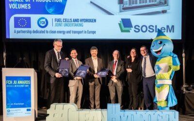"""FCH JU Awards 2019 – Europäischer Innovationspreis für Projektarbeit """"SOSLeM"""" auf Basis der Brennstoffzellentechnologie von SOLIDpower"""