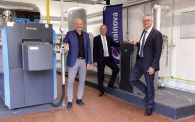 ABG Frankfurt Holding, Buderus und Mainova AG stellen Brennstoffzellen-Projekt in Wohnquartier vor
