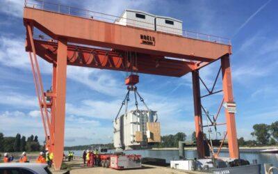 Bauarbeiten am Gaskraftwerk Biblis schreiten voran