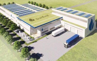 Sunfire plant Produktionsstätte zur Serienfertigung alkalischer Elektrolyseure