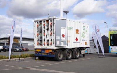 Westfalen präsentiert mobile Wasserstoff-Tankstelle