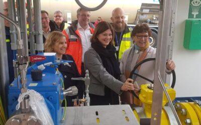 Ahrtal: Mobile Gasversorgungsanlage in Betrieb gegangen